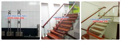 Cầu thang kính cho nhà hẹp
